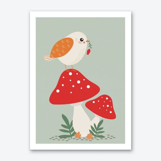 Autumn Bird Art Print