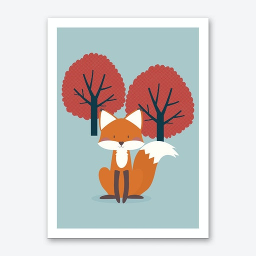 Foxy Friend Art Print