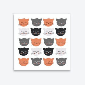 Cat Madness Art Print