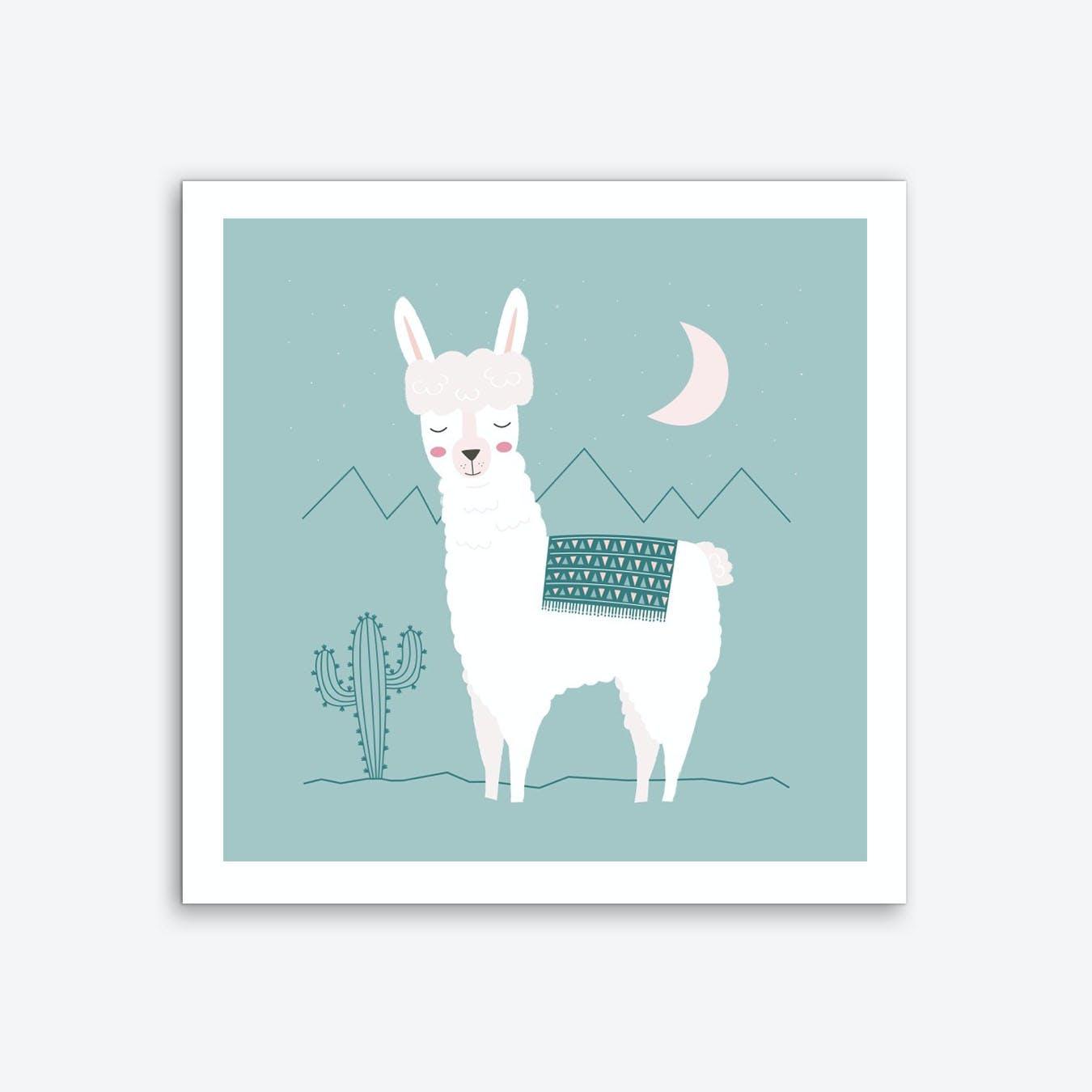 Alpaca In The Mountains Art Print