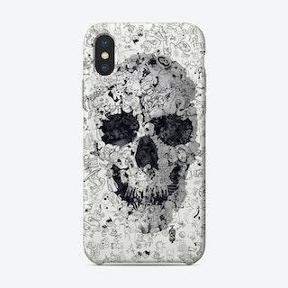 Doodle Skull Phone Case