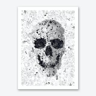Doodle Skull Art Print