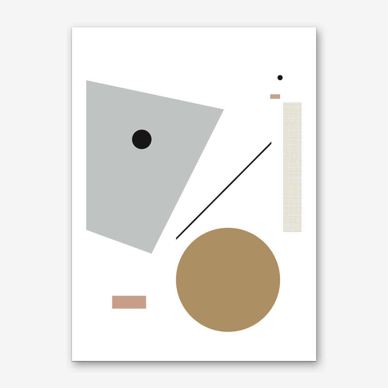 Minimal Geometric 3 Art Print