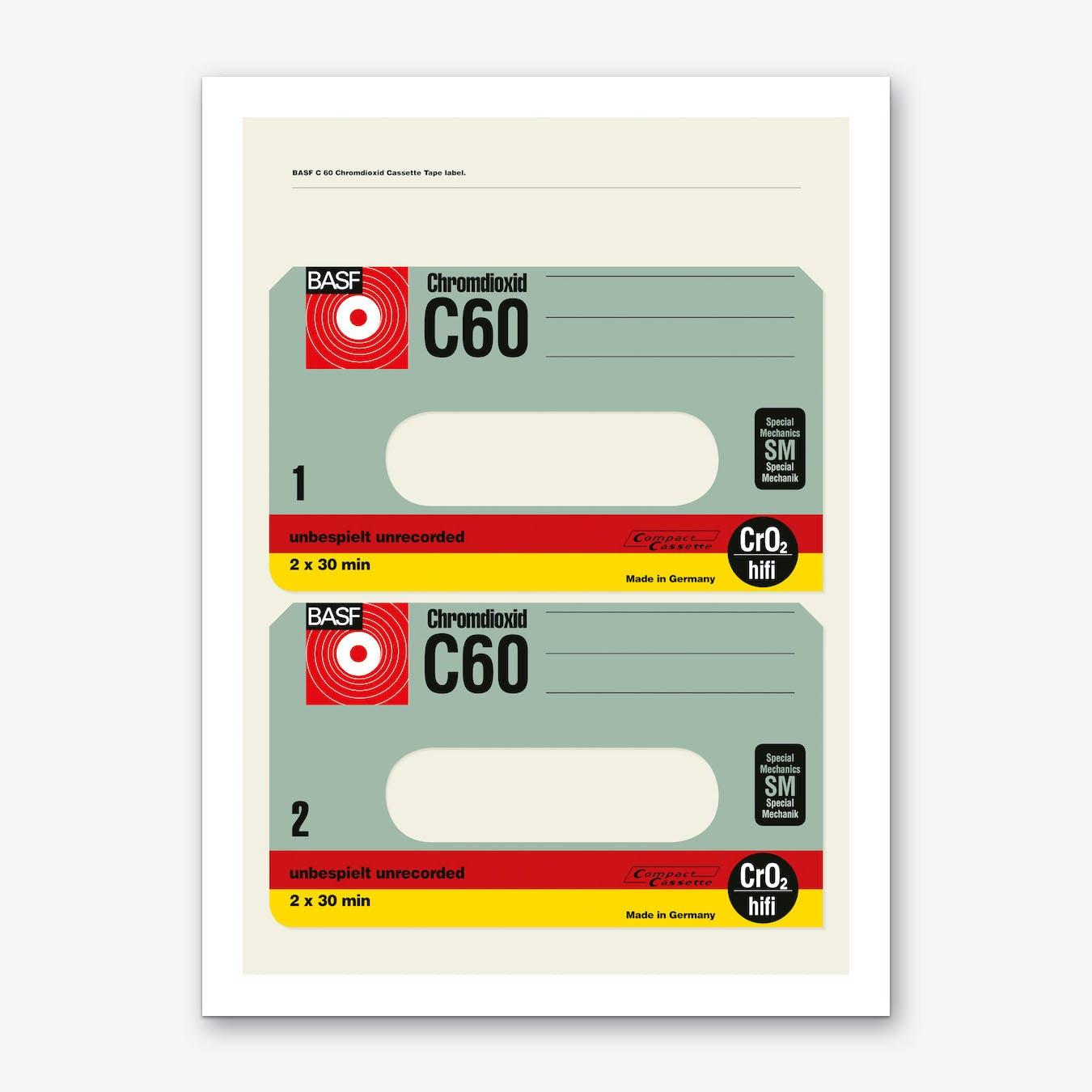 BASF C60 Chromdioxid Art Print