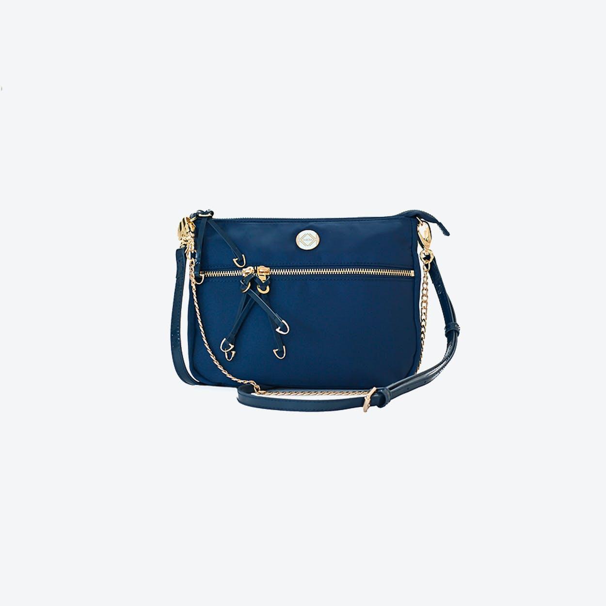 Melbourne Minx Crossbody Bag in Dark Blue Nylon
