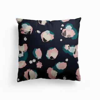 Petels At Night Canvas Cushion