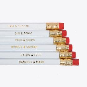 Pencils Set of 6 'Perfect Foodies'