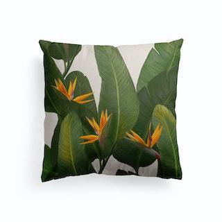 Tropical Flora Canvas Cushion
