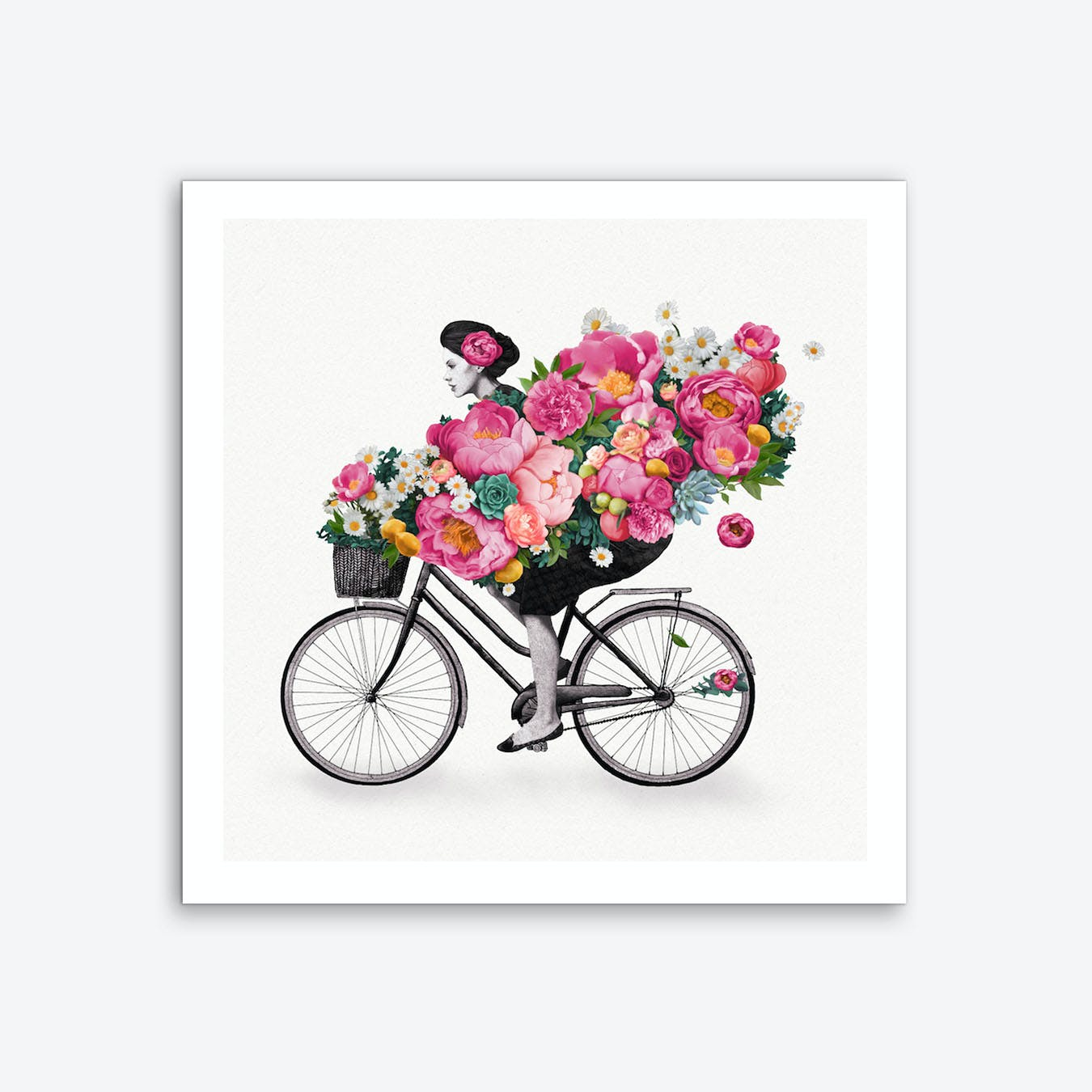 Floral Bicycle Art Print