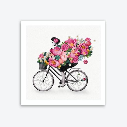 Floral Bicycle Art Print