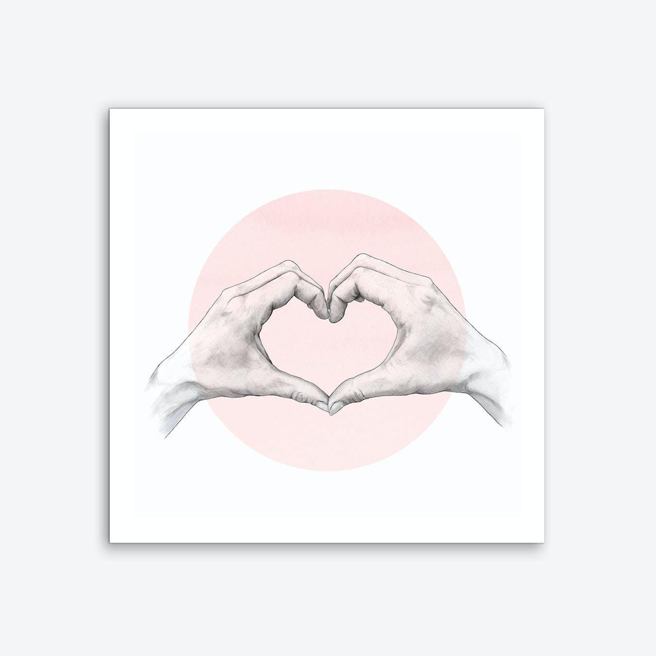 Heart in Hand Art Print