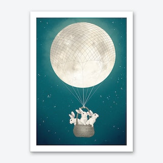 Moon Bunnies Art Print