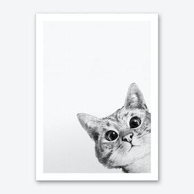 Sneaky Cat Art Print
