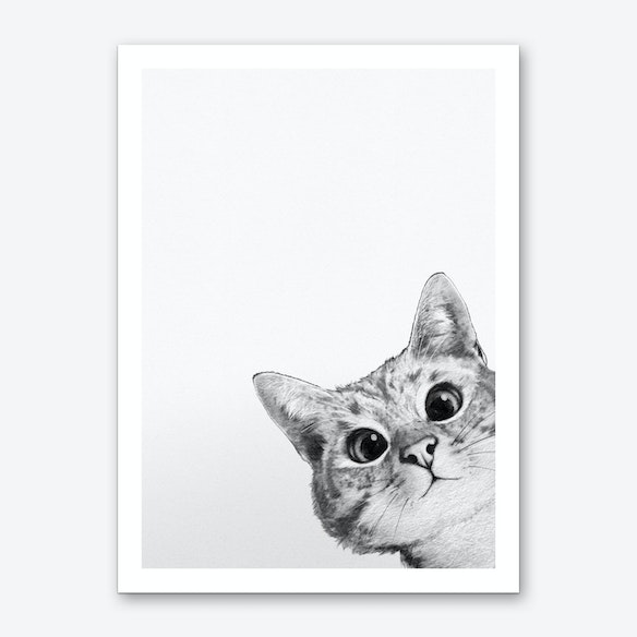 48839161ccd Sneaky Cat Art Print by Laura Graves