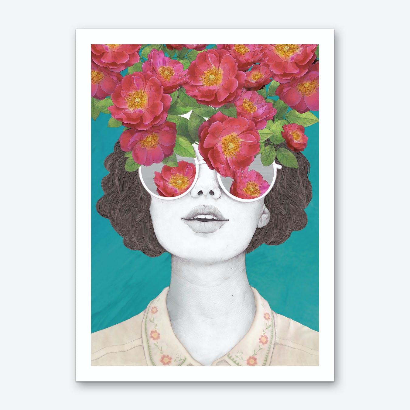 The Optimist Rose Tinted Glasses Art Print