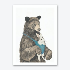 Bear au Pair Art Print