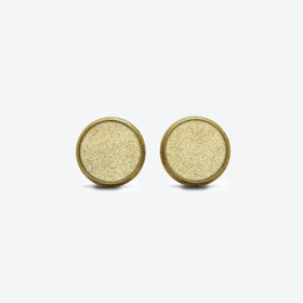 Leather Dot Earrings in Sunrise Gold