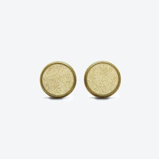 Leather Dot Earrings in Sunrise Gold