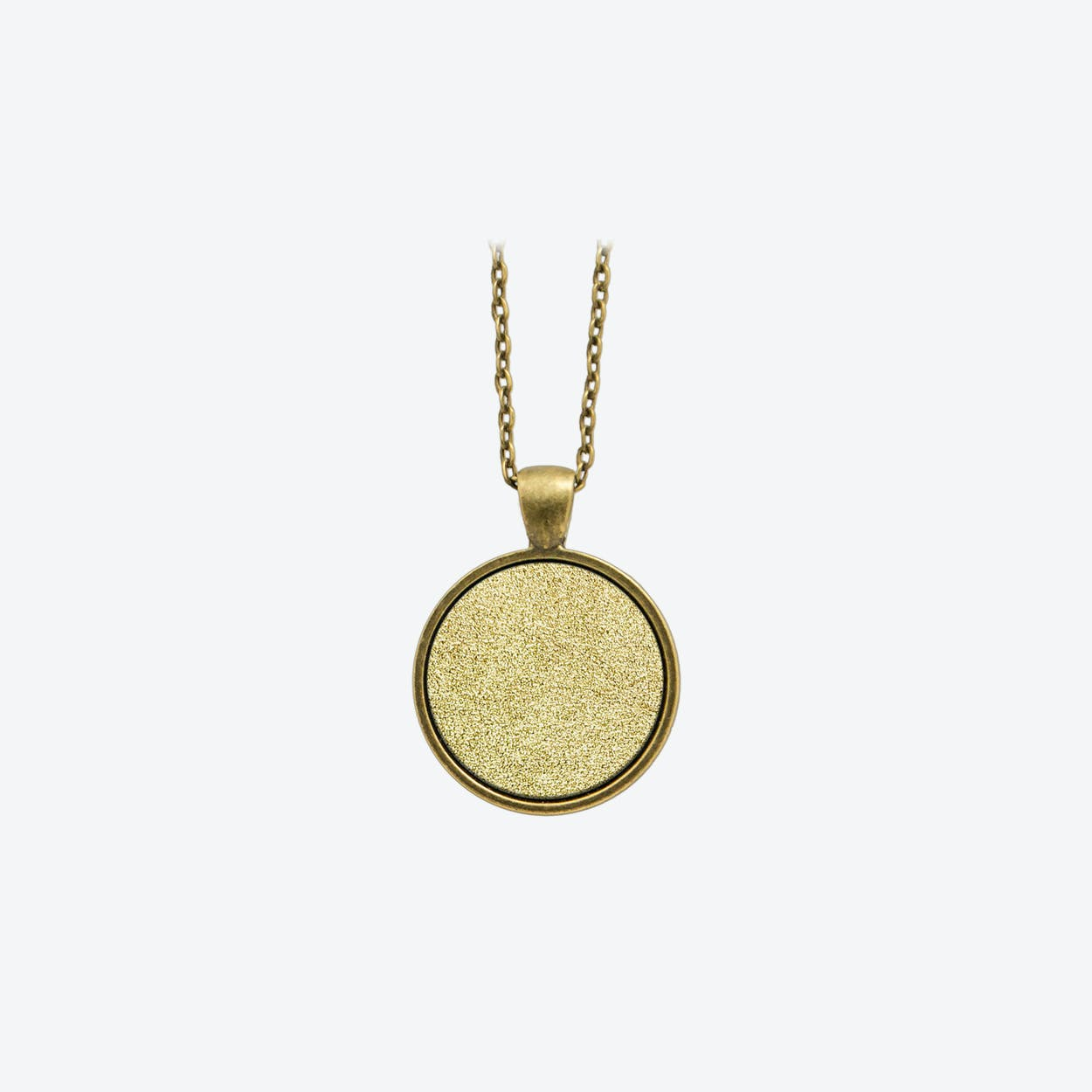 Leather Dot Necklace in Sunrise Gold