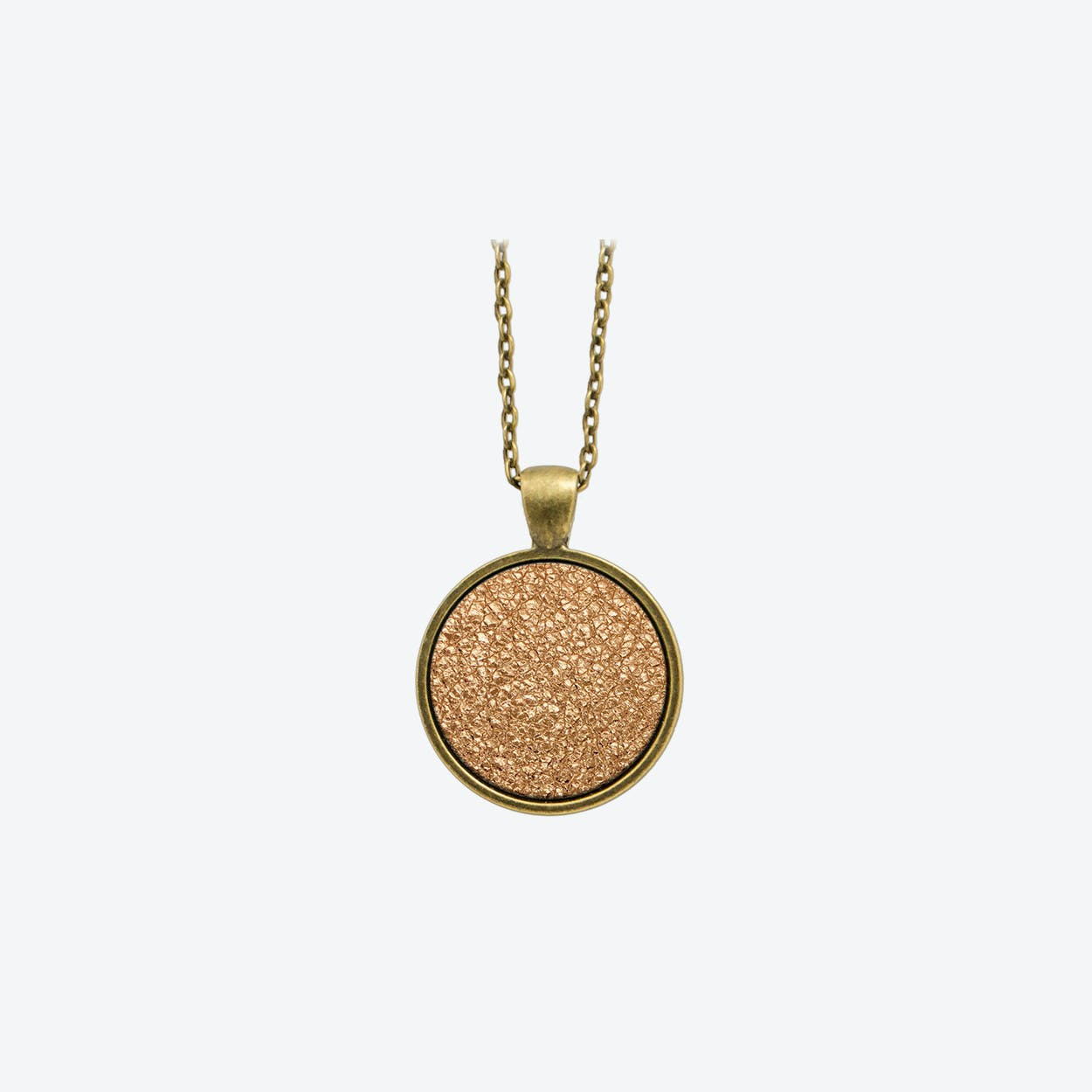 Leather Dot Necklace in Blush Copper