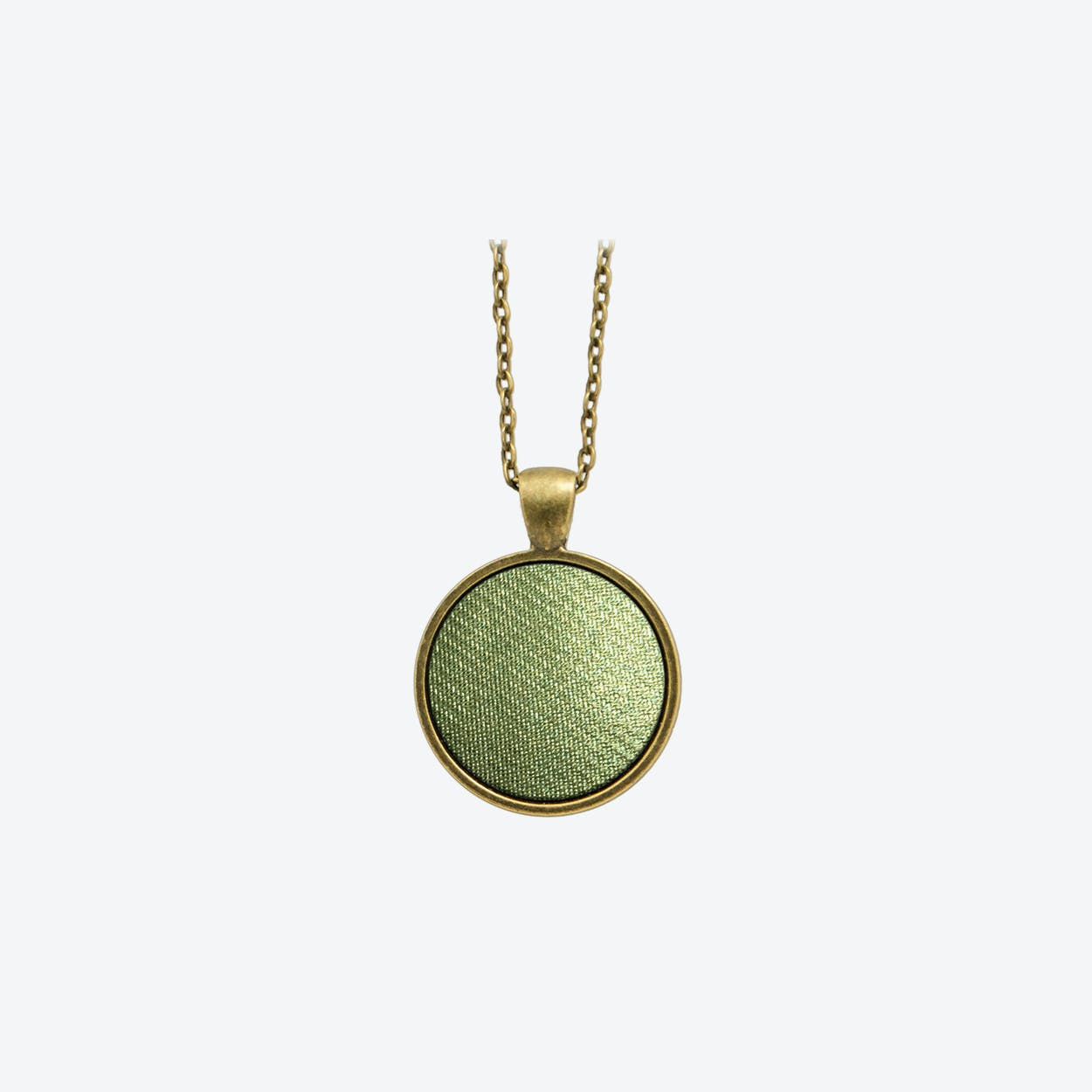 Leather Dot Necklace in Nymph Green