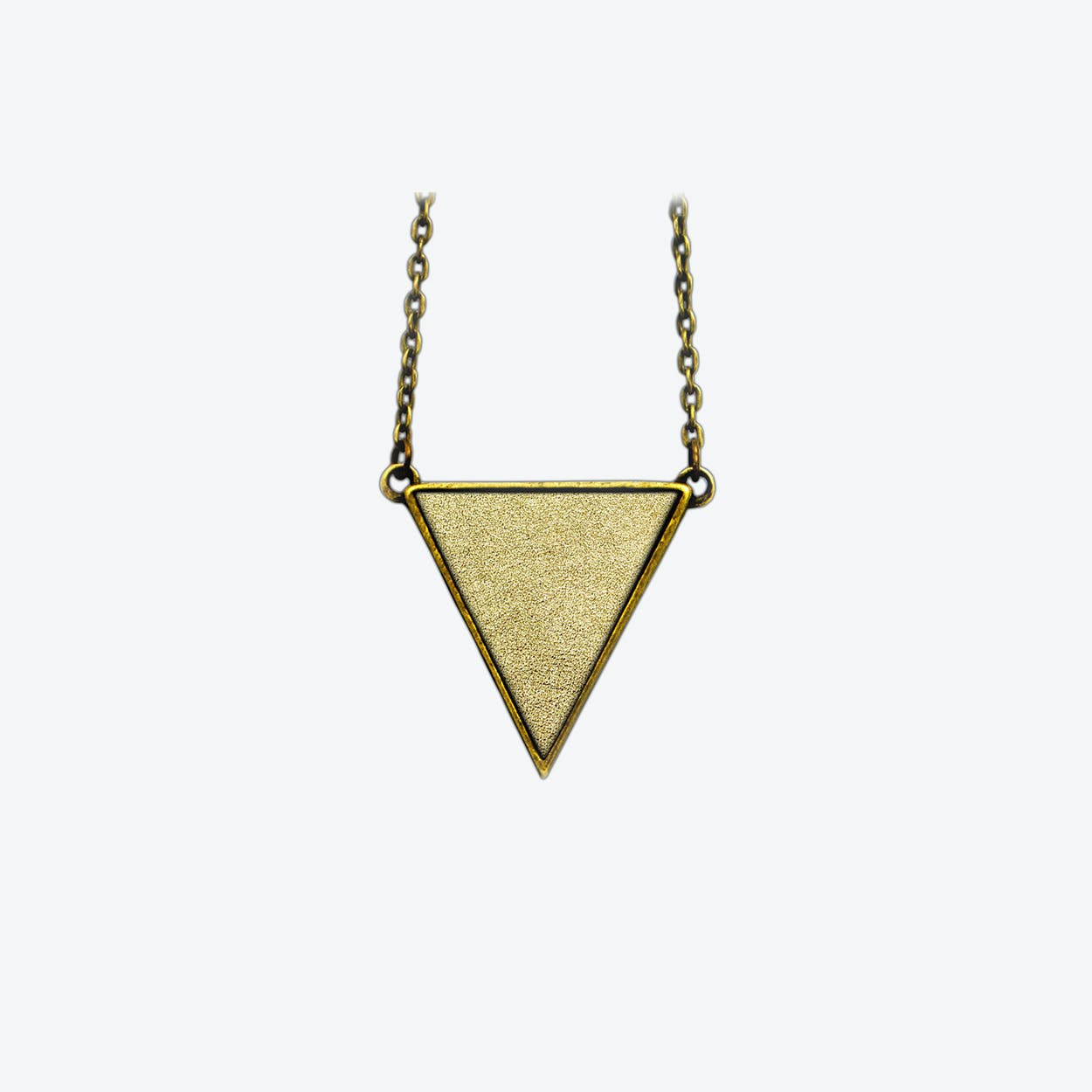 Leather Triangle Necklace in Sunrise Gold