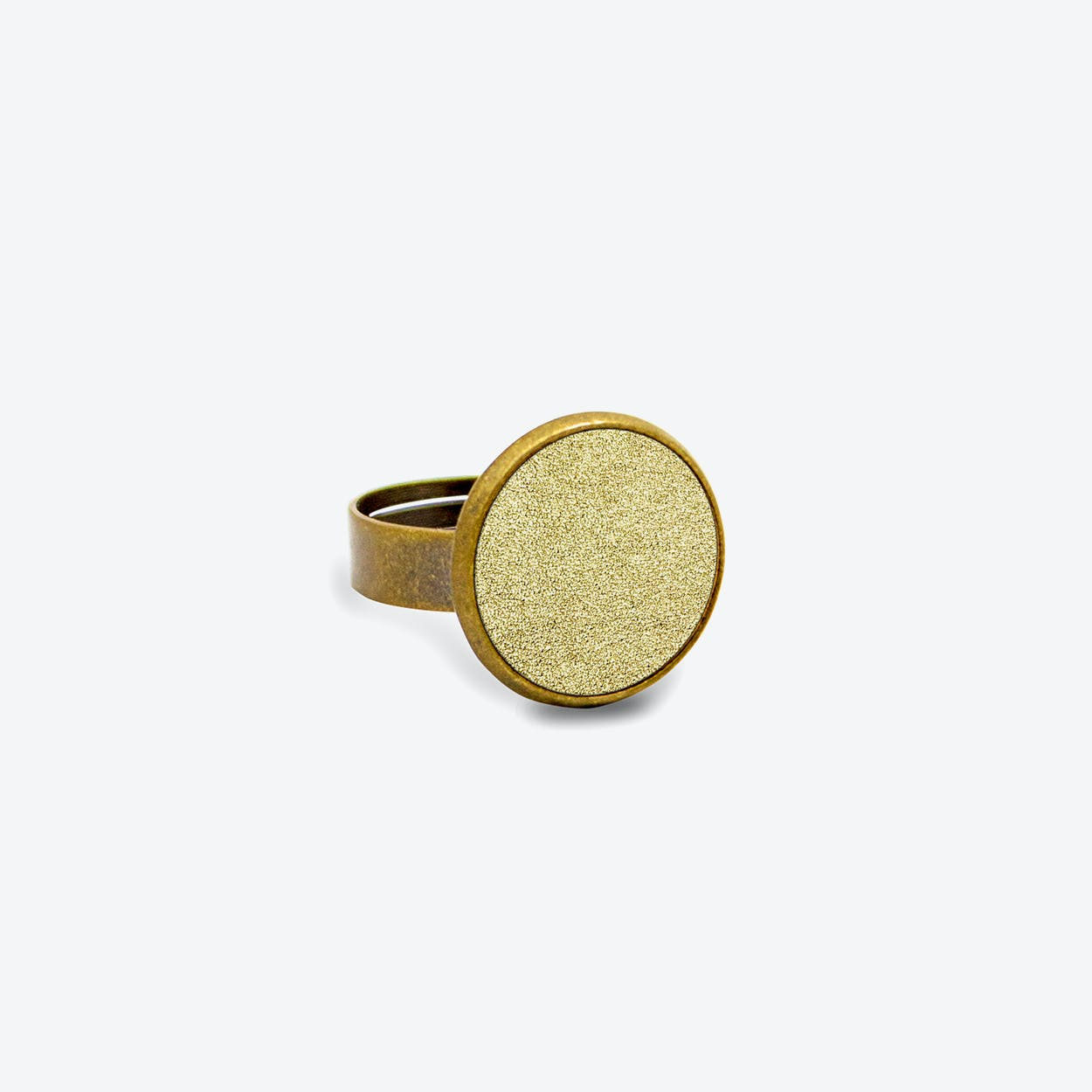Leather Dot Ring in Sunrise Gold