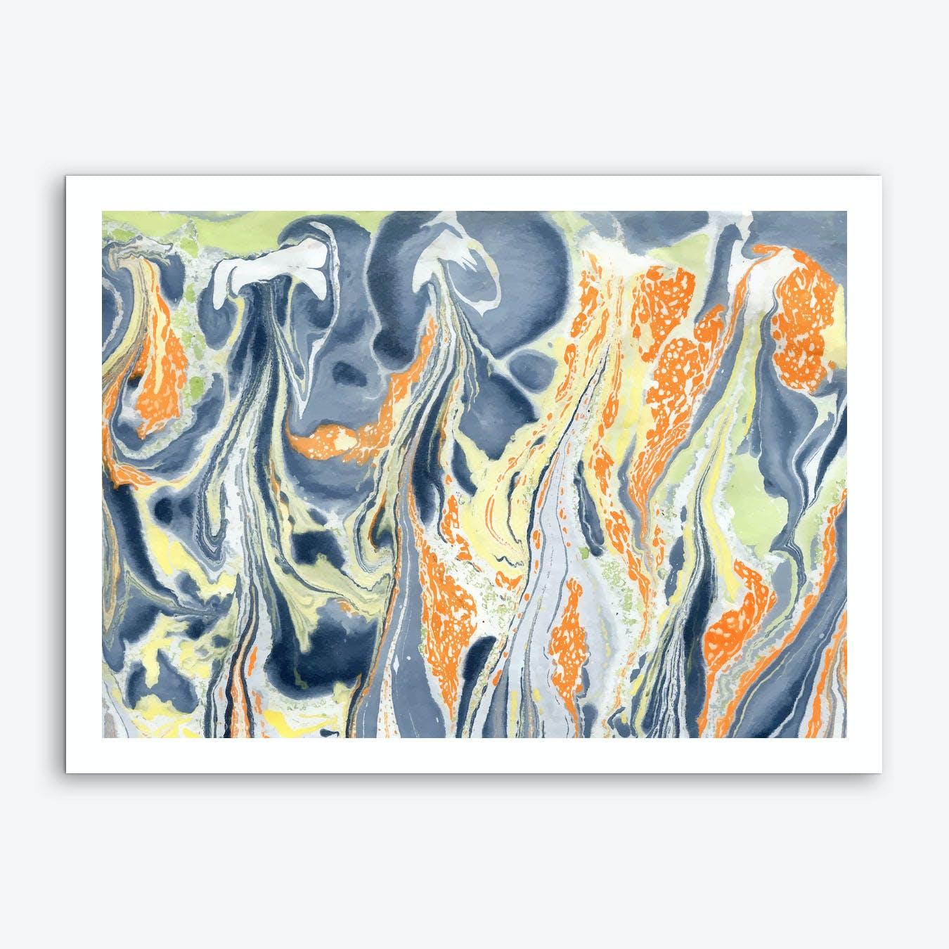 Erupting Lava Art Print