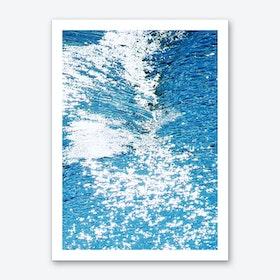 Hard Water Waves Abstract Art Print