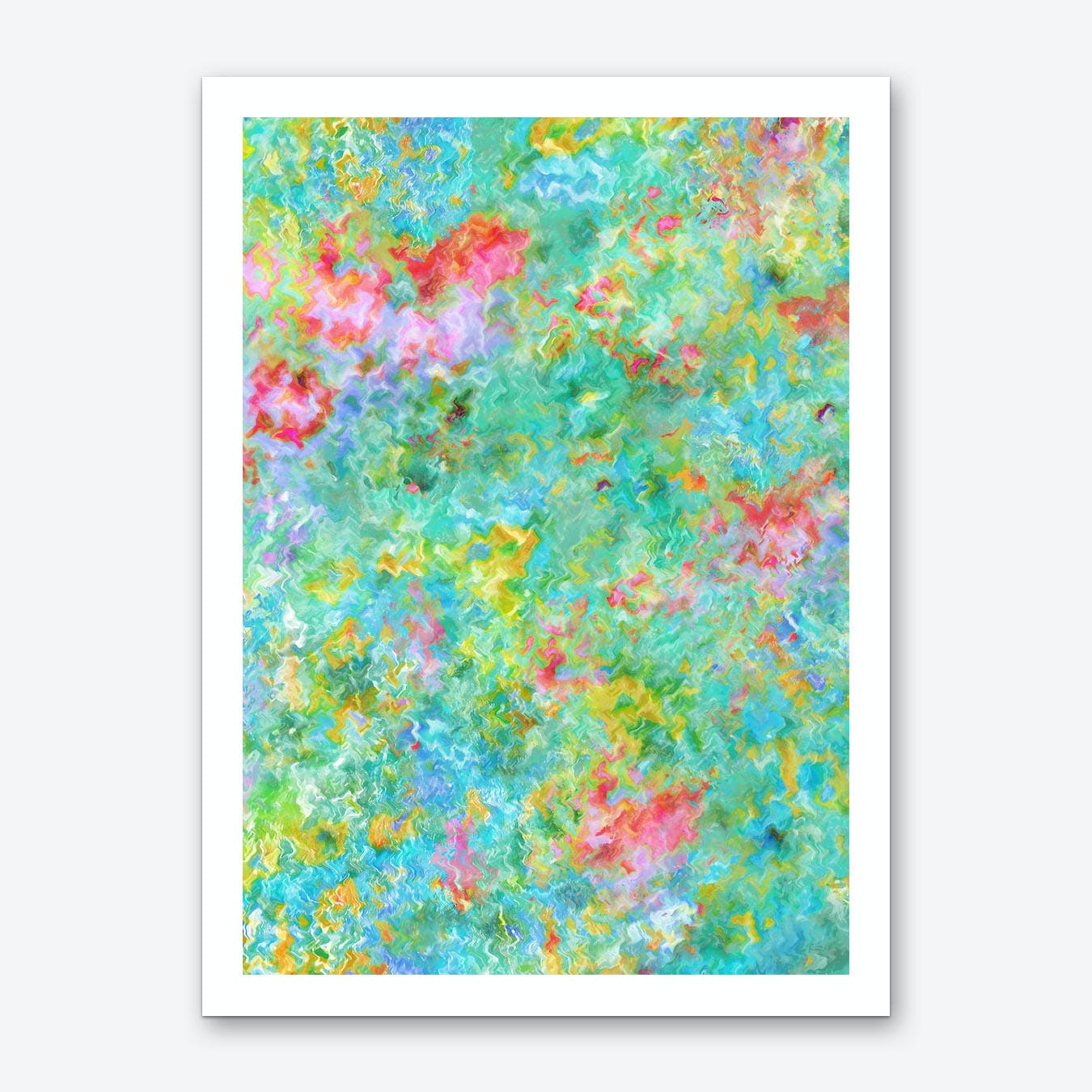 Tropical Waters Abstract Art Print