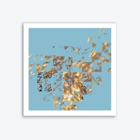 Bronze on Aqua Art Print
