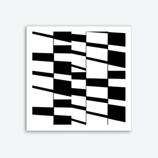 Slanting Rectangles Organic Geometry Art Print
