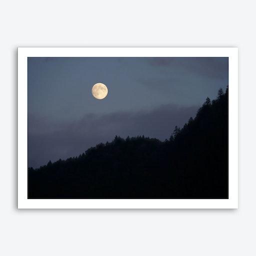 Moon over Hill Art Print
