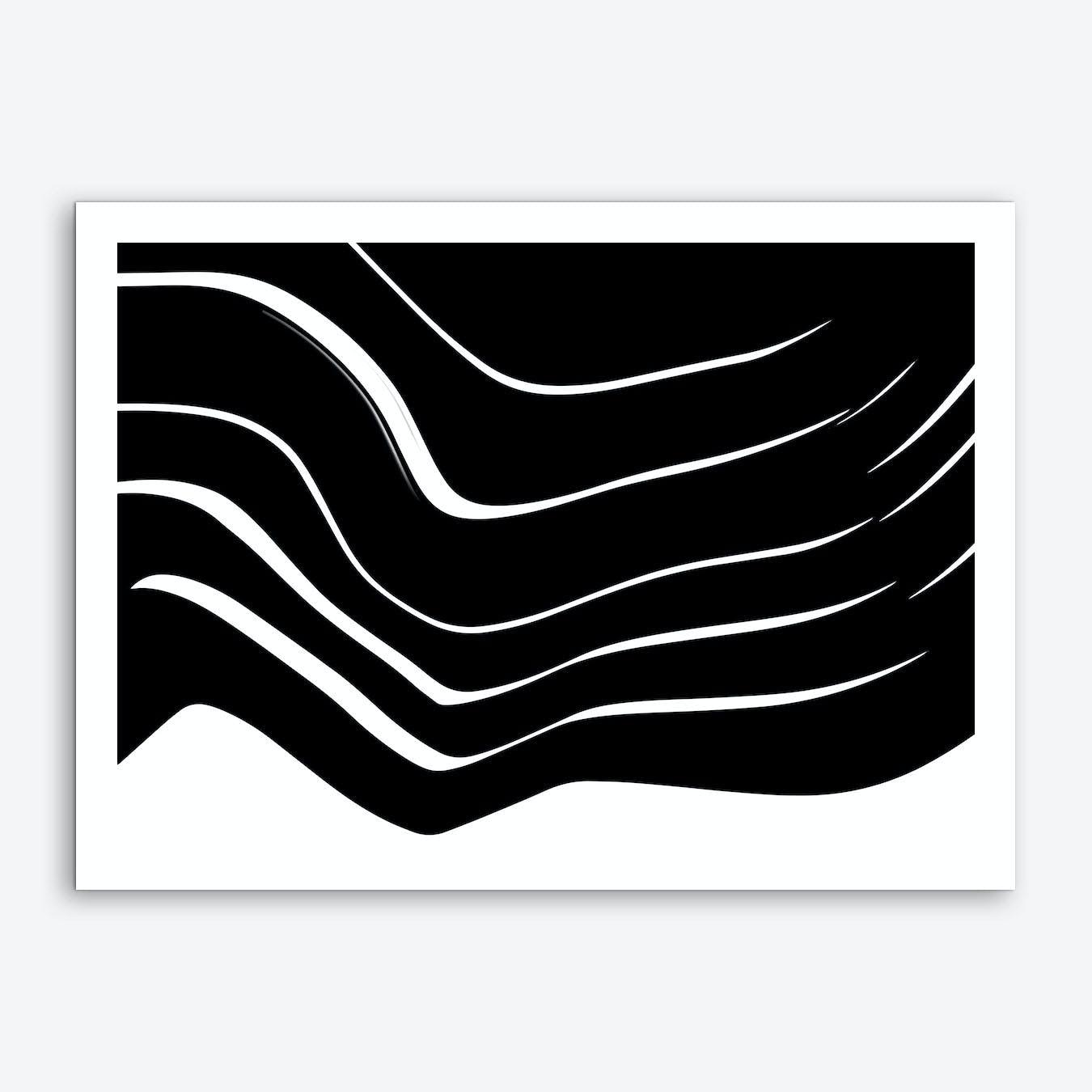 Organic 10 Black and White Minimalism Art Print