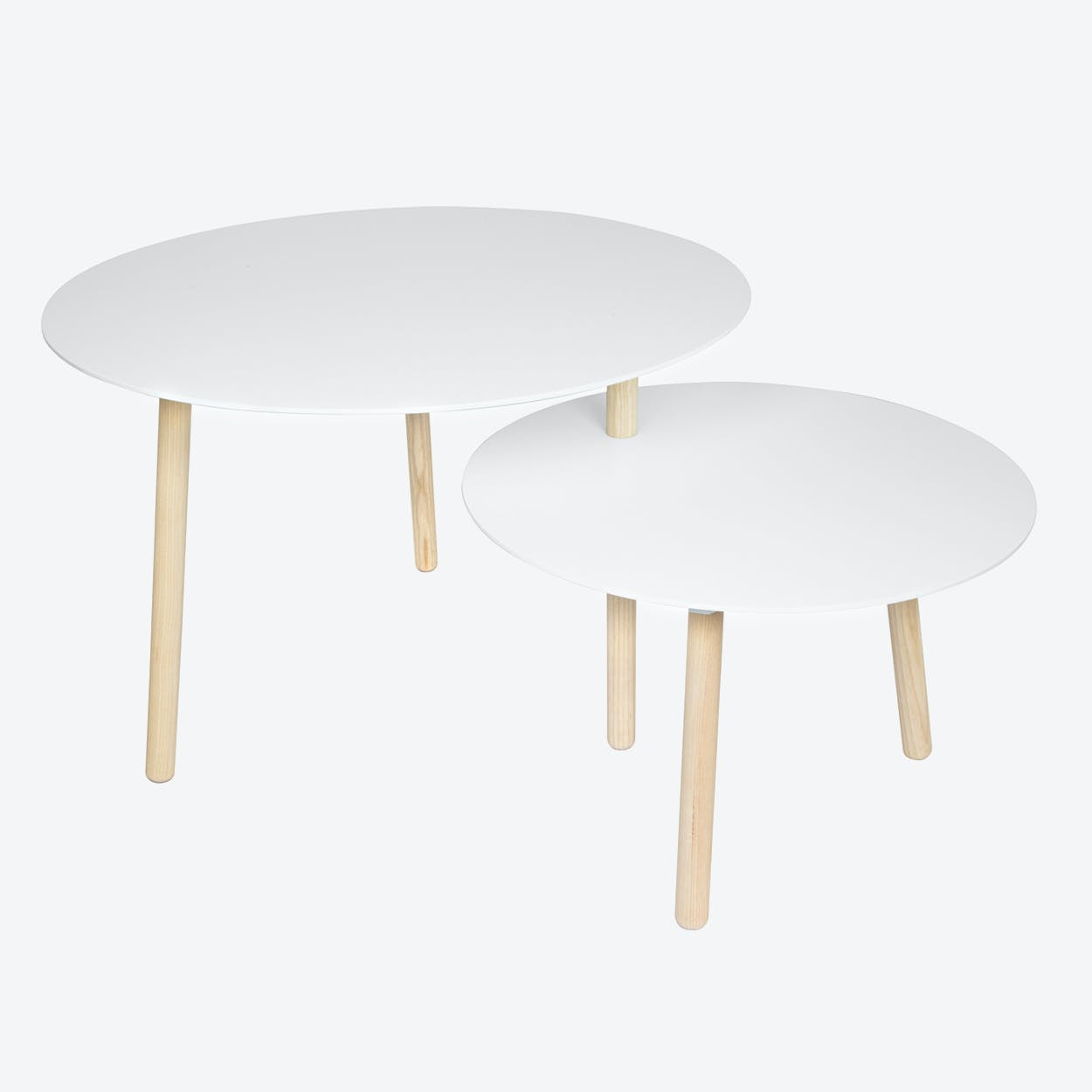 Hobstad Table in Natural Ash & Lacqured (White) Wood