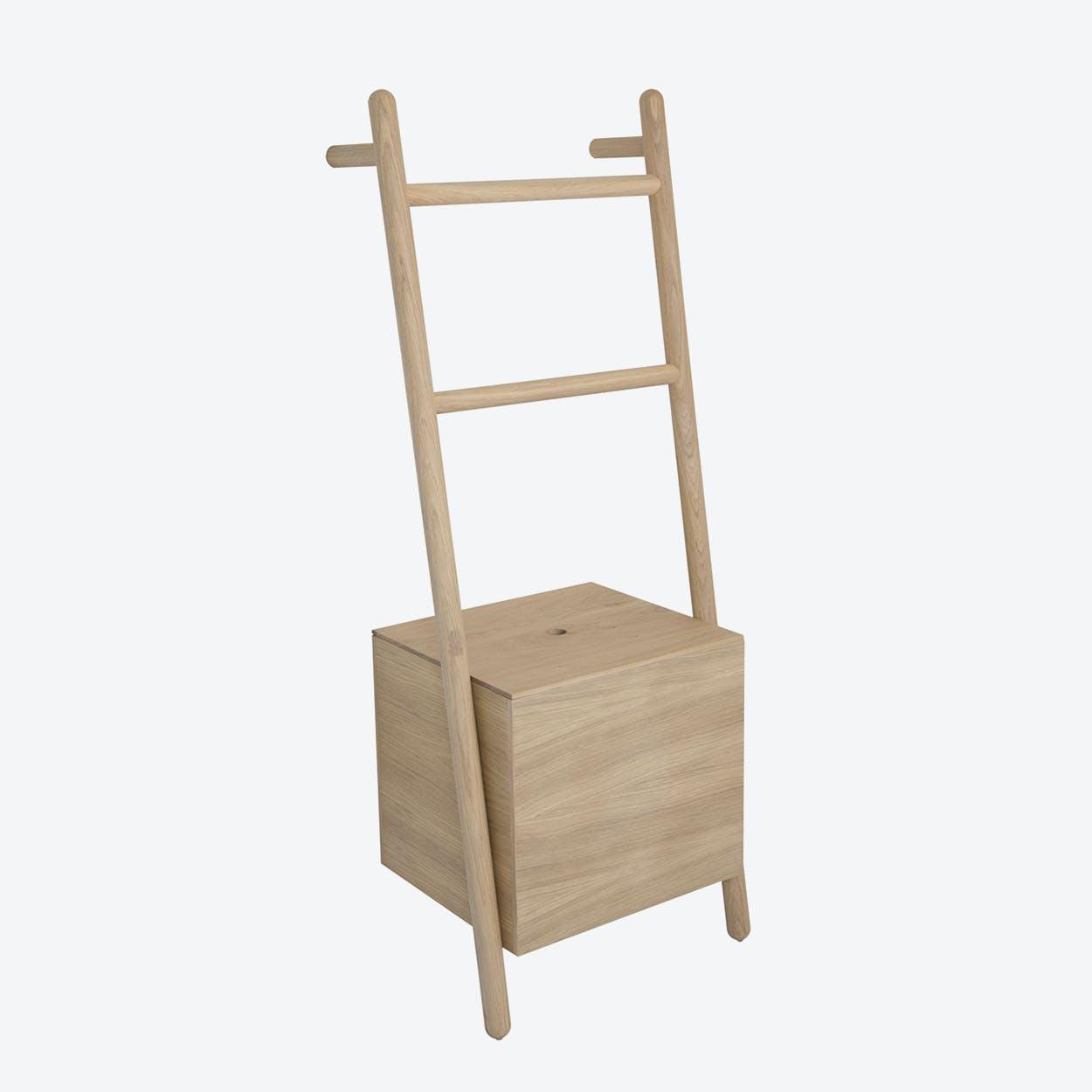 Lokks Ladder-Shelf in Natural Oak Wood