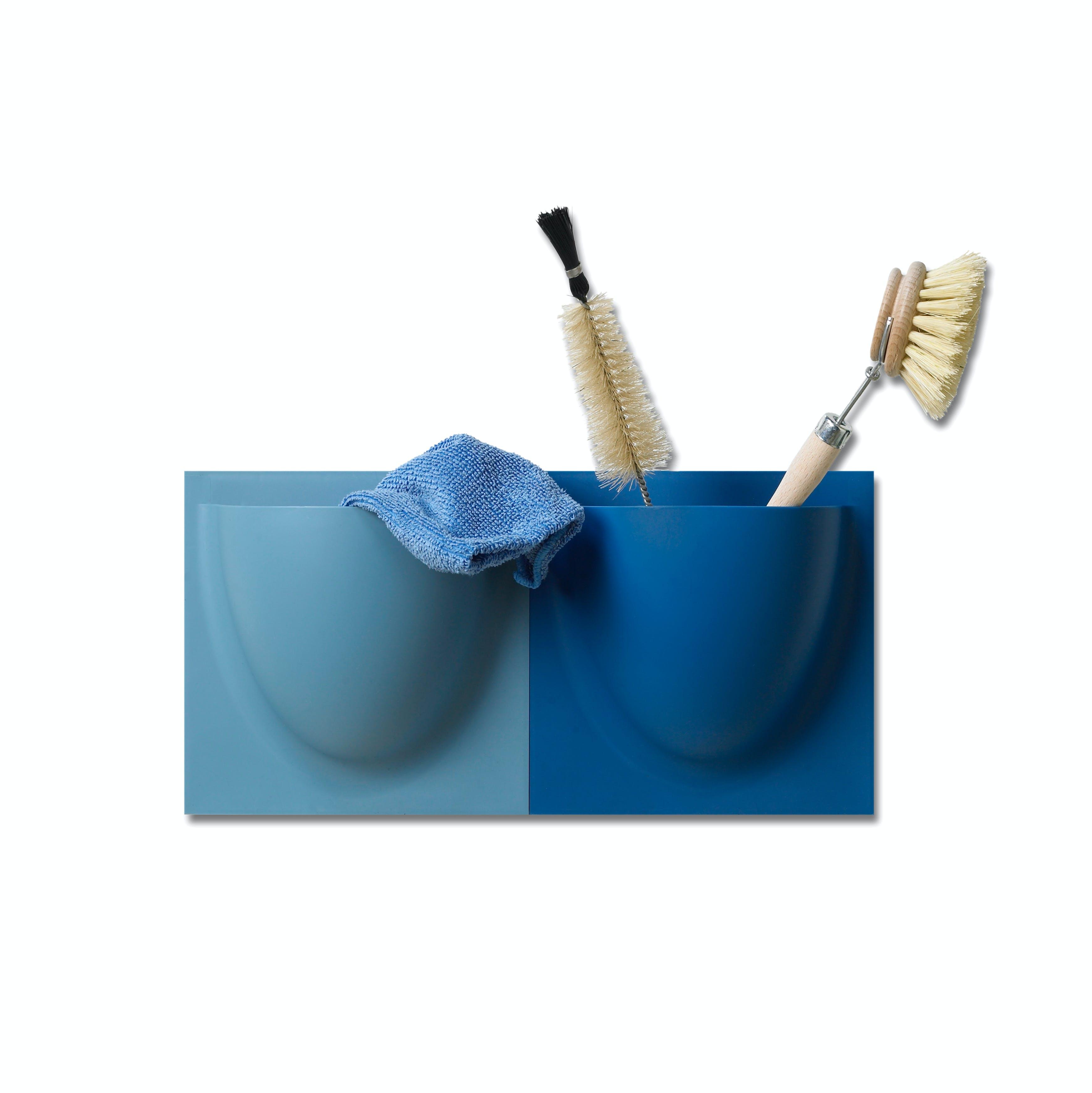Wall Planter / Jar Mini in Capri Blue (Set of 2)