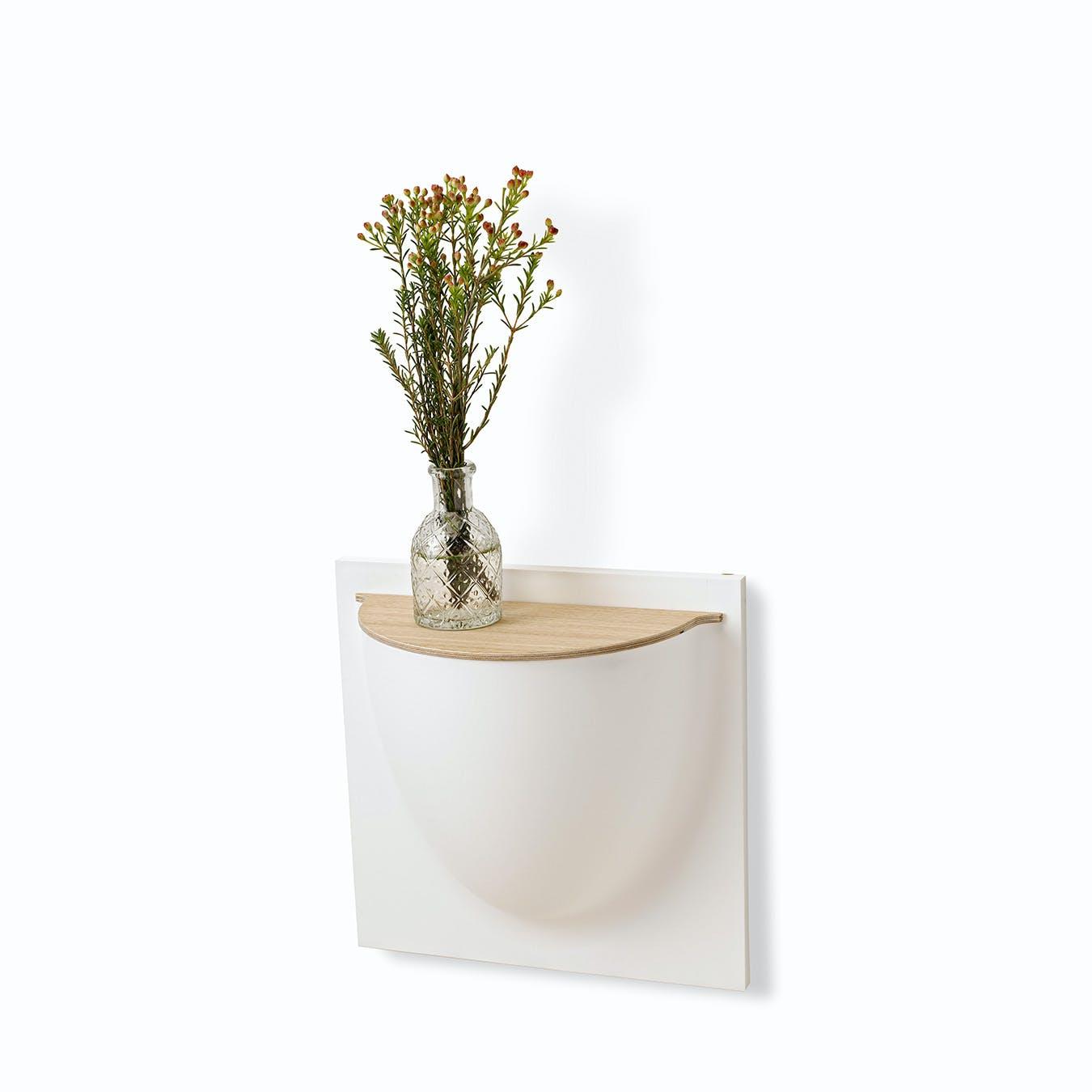 Wall Planter Lid in Oak