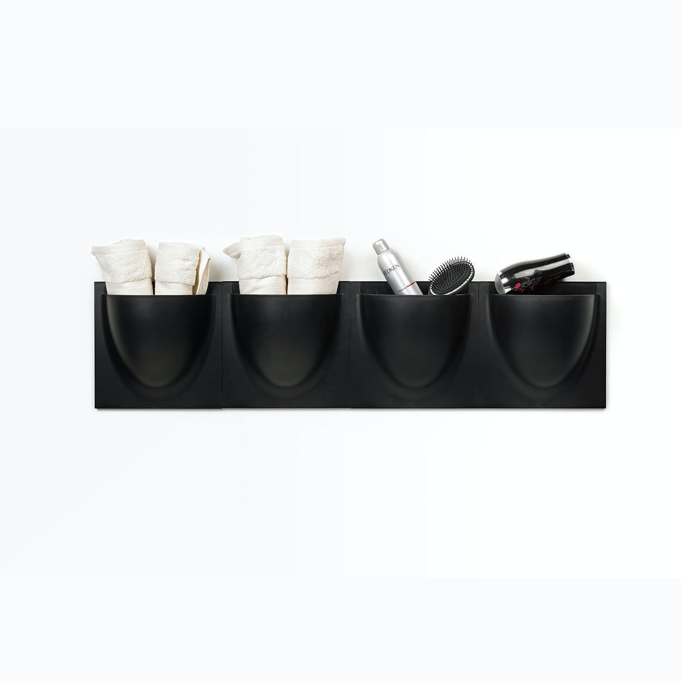 Wall Planter / Jar in Black