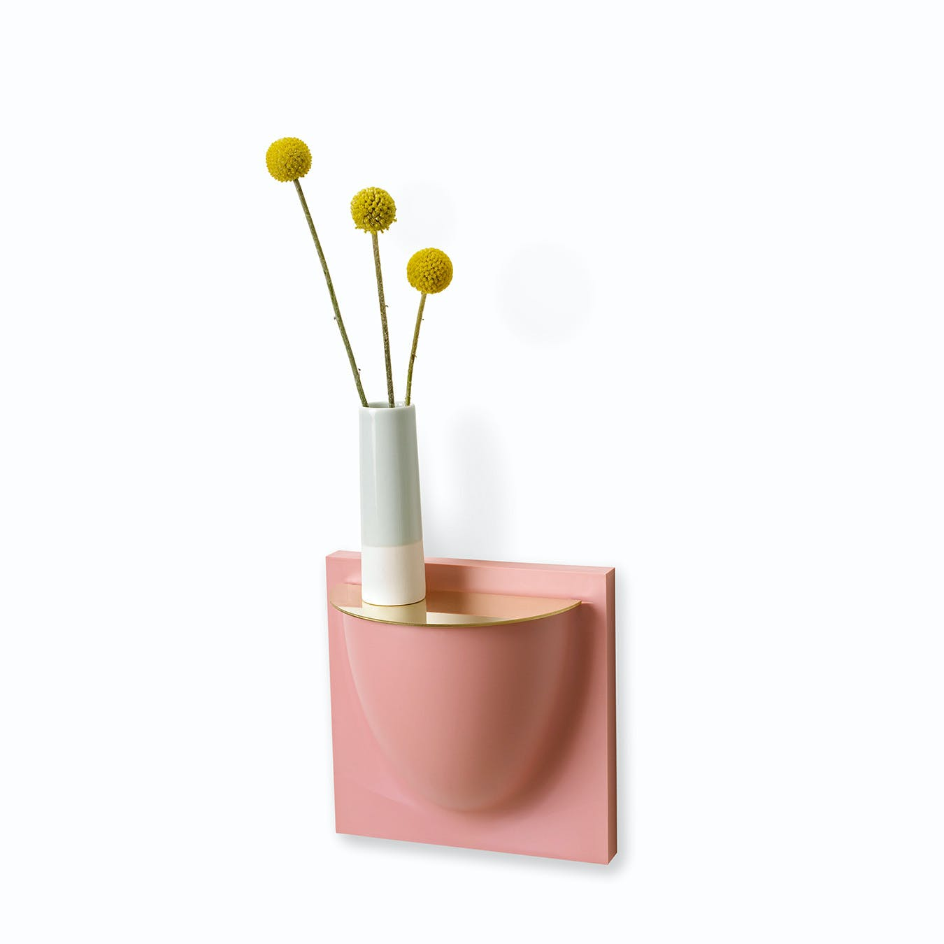 Wall Planter Mini Lid in Brass