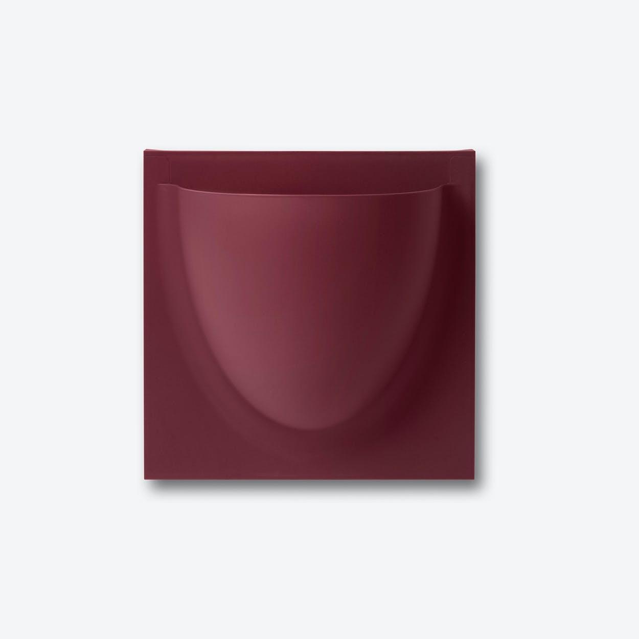 Wall Planter / Jar Mini in Bordeaux Violet (Set of 2)
