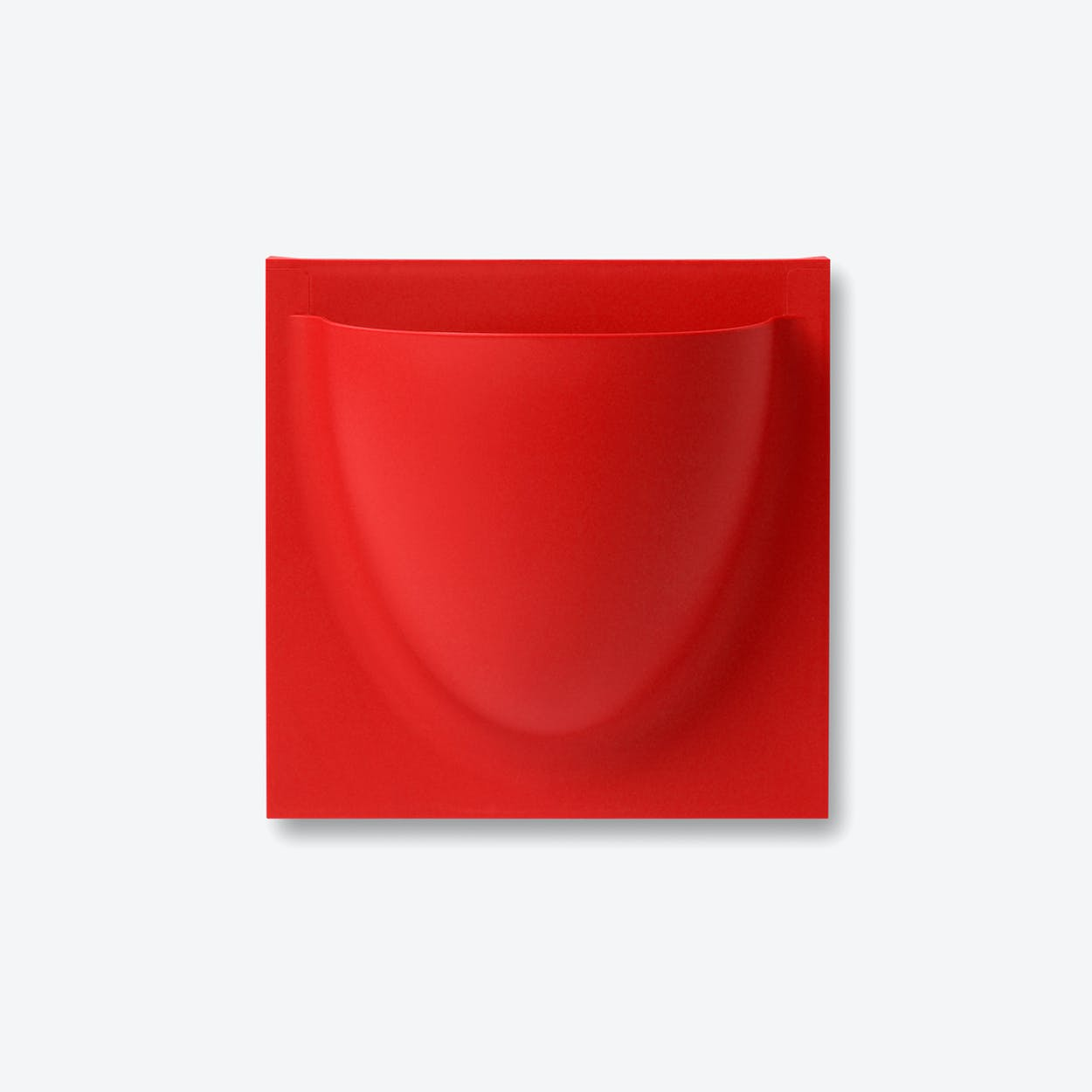 Wall Planter / Jar Mini in Traffic Red (Set of 2)