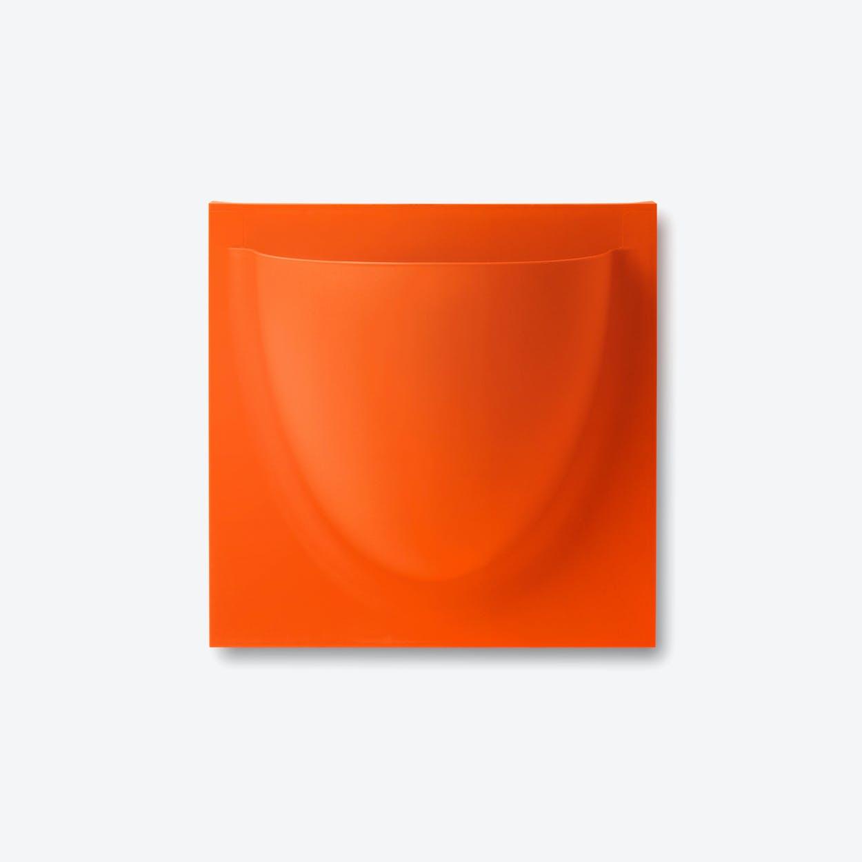 Wall Planter / Jar Mini in Orange (Set of 2)