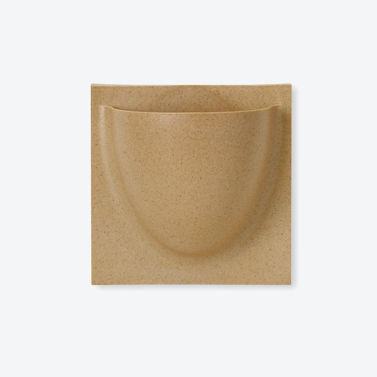 Wall Planter / Jar Mini in Cafe Latte (Biofiber) (Set of 2)