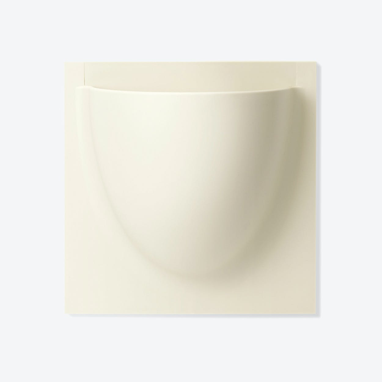 Wall Planter / Jar in Oyster White