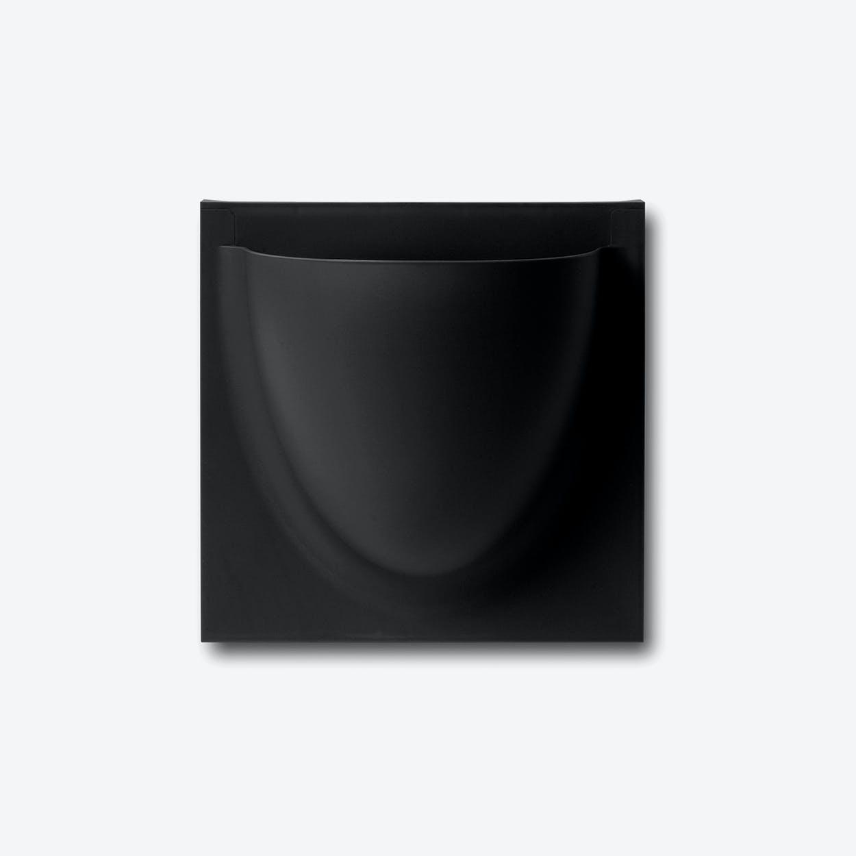 Wall Planter / Jar Mini in Black (Set of 2)