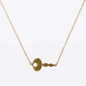 Diary Key Necklace in Gold