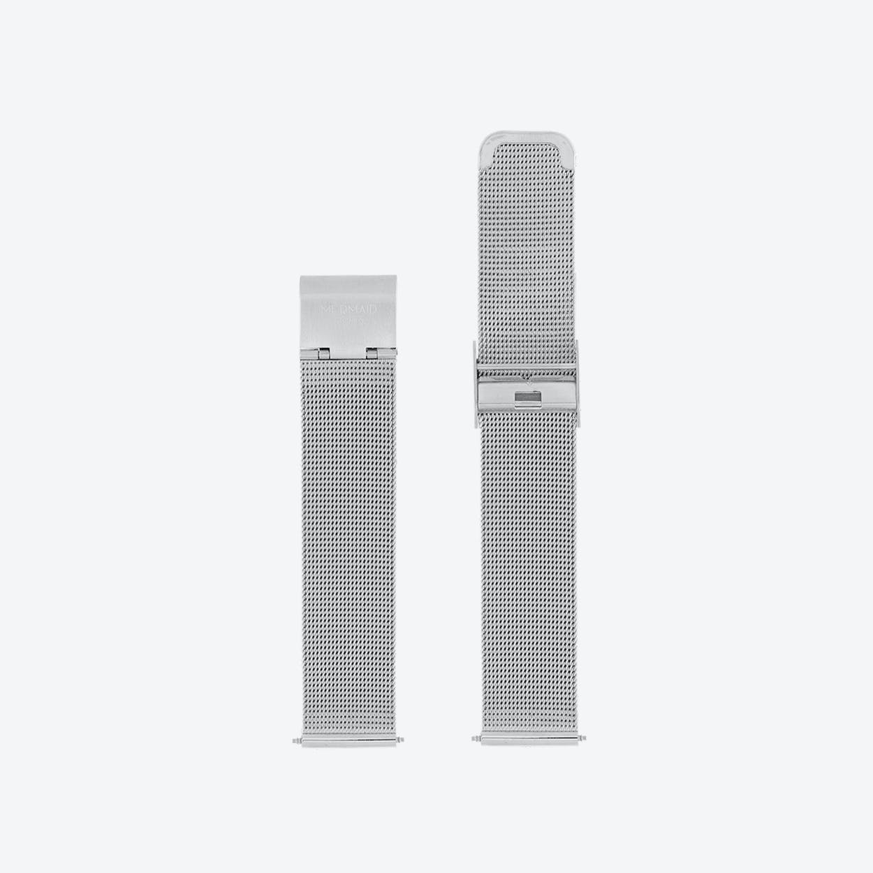 18mm Mesh Watch Band in Silver