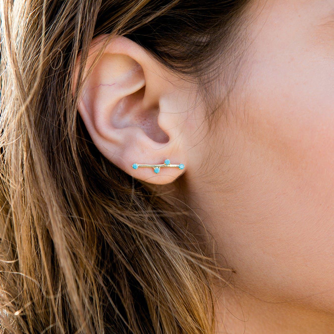 Delia Earrings - Turquoise