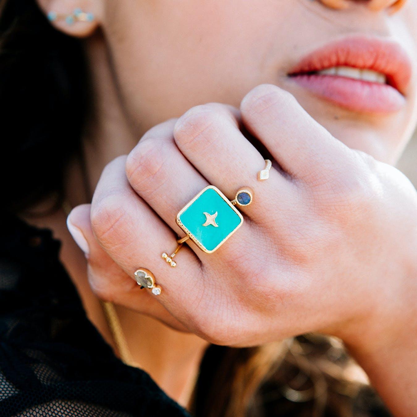 Meruba Ring - Turquoise